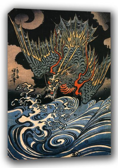 Kuniyoshi, Utagawa: Dragon. Fine Art Canvas. Sizes: A3/A2/A1 (00505)